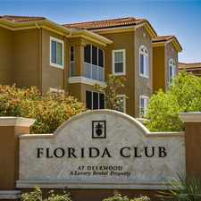 Rental info for Florida Club at Deerwood