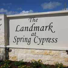 Rental info for Landmark at Spring Cypress