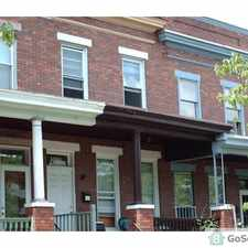 Rental info for Three large bedroom row house in Upper Charles Village, close to bus line and shopping. This unit includes stove, refrigerator, washer and dryer. in the Abell area