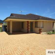 Rental info for SPACIOUS THREE BEDROOM VILLA... in the Perth area