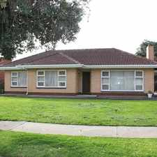 Rental info for Neat and tidy cosy home. in the Flinders Park area