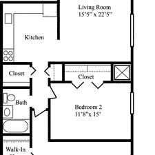 Rental info for Milford, 2 bed, 1 bath for rent