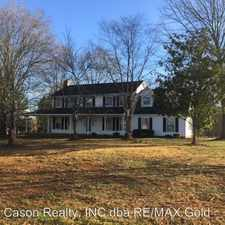 Rental info for 3902 North Rocky River Road in the Indian Trail area