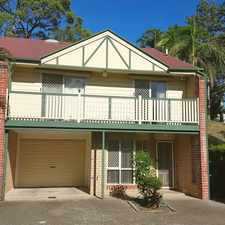 Rental info for 2 BEDROOM TOWNHOUSE IN QUIET COMPLEX, CLOSE TO SHOPS AND PUBLIC TRANSPORT
