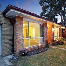 Rental info for EXCEPTIONAL HOME IN QUIET STREET in the Bentleigh East area