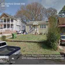 Rental info for 87 Stafford Street NW in the Hunter Hills area