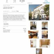 Rental info for 1709 Saint Paul Street #3 in the Charles North area
