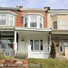 Rental info for 3435 Reisterstown Rd in the Park Circle area