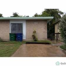 Rental info for (210)679-6961, Perfect one story freshly painted duplex, 2 bdrm 1 ba, ceiling fans, refrigerator, stove in the San Antonio area