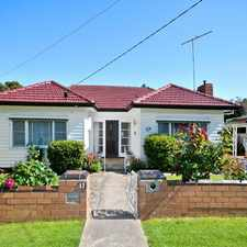 Rental info for CHARMING WEATHERBOARD CLOSE TO STATION & SHOPS. *New Carpet & A Fresh Coat Of Paint* in the Melbourne area