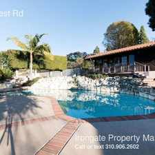 Rental info for 6857 Crest Rd in the Los Angeles area