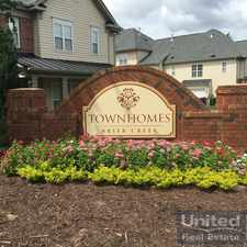 Rental info for 9912 Reanne Court in the Raleigh area