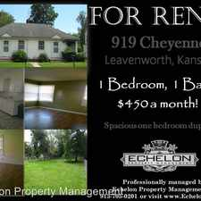 Rental info for 919 Cheyenne - 919 in the Leavenworth area