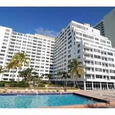 Rental info for 5005 Collins Ave in the Ocean Front area