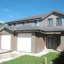 Rental info for MODERN FEATURES WITH SPACIOUS LIVING in the Glenmore Park area