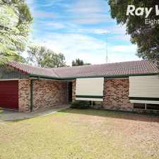 Rental info for GREAT FAMILY HOME IN EIGHT MILE PLAINS..........NO BACK NEIGHBOURS