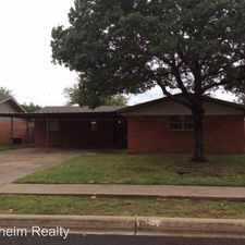 Rental info for 5511 17th Place in the Lubbock area