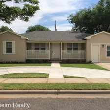 Rental info for 3413 24th Street in the Lubbock area