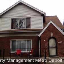 Rental info for 17132 Northlawn St (Upper) in the Detroit area