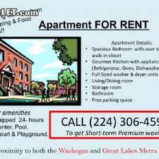 Rental info for $1200 1 bedroom Apartment in North Suburbs Waukegan