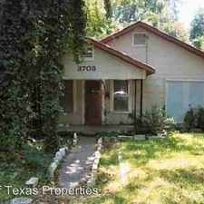 Rental info for 3703 Werner in the Austin area