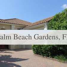 Rental info for Nicely Furnished And Decorated! in the Palm Beach Gardens area