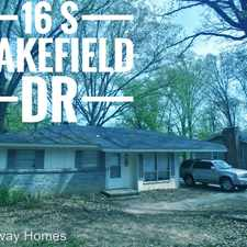 Rental info for 16 S Wakefield Dr