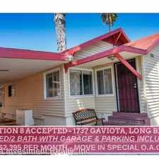 Rental info for 1737 Gaviota Ave in the Long Beach area
