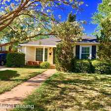 Rental info for 3316 26th Street in the Lubbock area