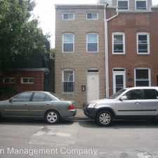 Rental info for 305 S Regester St. in the Fells Point area