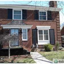 Rental info for East East English Village - Upper Brick Flat with Air Conditioning, Living Room with Fireplace and Formal Dining Room in the Detroit area