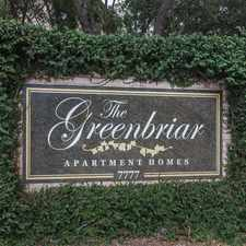 Rental info for Greenbriar Park in the Medical Center area