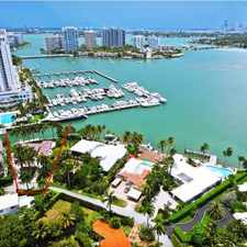 Rental info for Miami Beach Sunset Island IV Waterfront Masterpiece