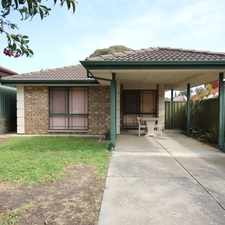 Rental info for COMPACT 3 BEDDER - CLOSE WALK TO SHOPS & TRANSPORT in the Aberfoyle Park area