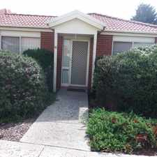 Rental info for NEAT & TIDY 2 BEDROOM UNIT - PERFECT LOCATION! in the Melbourne area