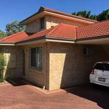 Rental info for REFRESHED TOWNHOUSE WITH NEW CARPETS, BLINDS AND F in the East Victoria Park area