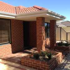 Rental info for HIDDEN GEM OPPOSITE PARK in the Perth area