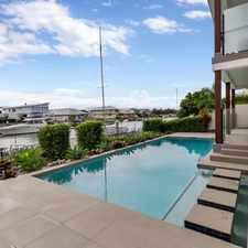 Rental info for SENSATIONAL NORTH FACING, APPROXIMATELY 60 SQM WATER FRONT HOME in the Gold Coast area
