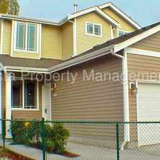 Rental info for Beautifully Maintained Townhomes Ten Minutes from JBLM East Gate