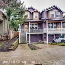 Rental info for 3605 NE 14th Ave. Unit B in the Portland area