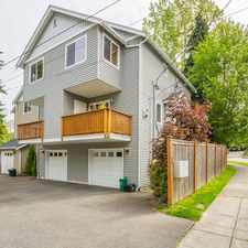 Rental info for MAGNIFICENT Town Home in Beautiful West Seattle in the High Point area