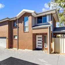 Rental info for NEAR NEW 4 BEDROOM TOWN HOME WITH DOUBLE GARAGE - WALK TO ROOTY HILL TRAIN STATION