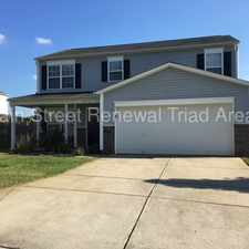 Rental info for Massive Two-Story Home In Winston-Salem