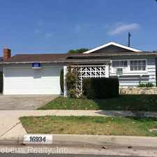 Rental info for 16934 S. ORCHARD AVE in the Carson area