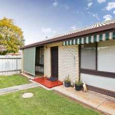 Rental info for NEWTON - REAR 2 BEDROOM UNIT IN SMALL GROUP OF 4 in the Adelaide area