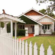 Rental info for SOUTH PERTH PROPERTY FOR RENT in the Perth area
