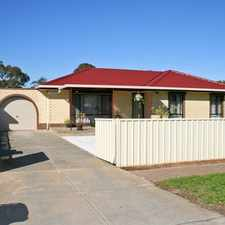 Rental info for 3 bedroom home with shed & solar panels-pets neg. in the Parafield Gardens area