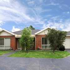 Rental info for Quiet and Cosy Unit on Cadles in the Melbourne area