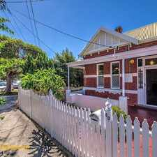 Rental info for RENOVATED CHARACTER HOUSE in the West Perth area
