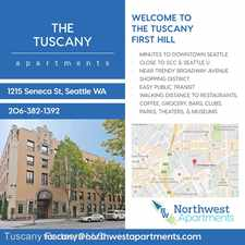 Rental info for 1215 Seneca St. in the Seattle area